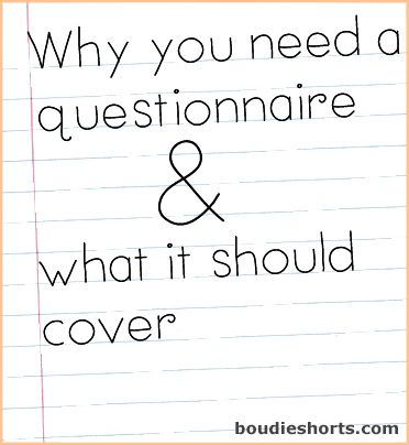 Why you need a boudoir questionnaire and what it should cover | Boudie Shorts