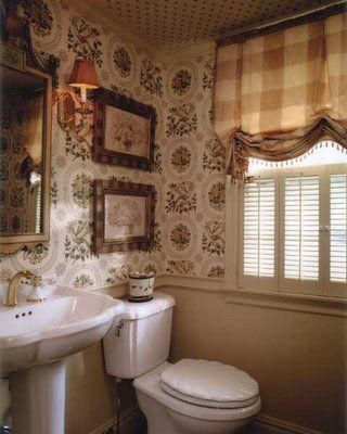 602 best images about buffalo check toile on pinterest for Country cottage bathroom design ideas