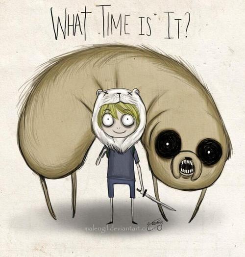 Adventure Time Tim Burton style