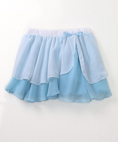 Take a look at this Light Blue Two-Tier Chiffon Skirt  - Girls by Eurotard on #zulily today!