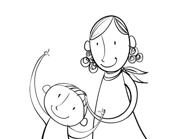 Mejores 20 imágenes de Dibujos del Día de la Madre en Pinterest ...