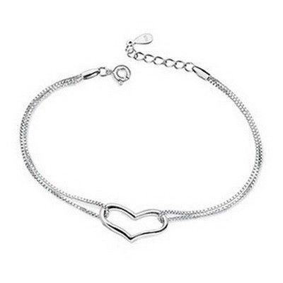 SJ XMS055 Безкоштовна доставка Жіноча форма серця Мідна покрита родій Регульований браслет для вечірки