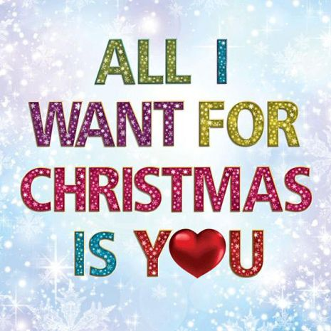 all i want for christmas is you love christmas | Quotes ...
