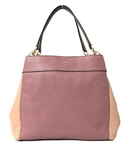 1b494fc821 Coach F57545 Lexy Pebble Leather Shoulder Bag (IM Dusty R...  bag ...