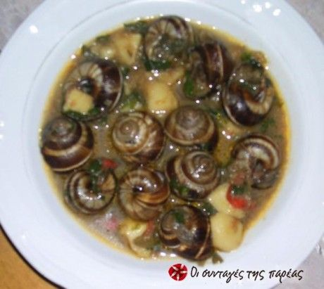 Σαλιγκάρια στην κατσαρόλα