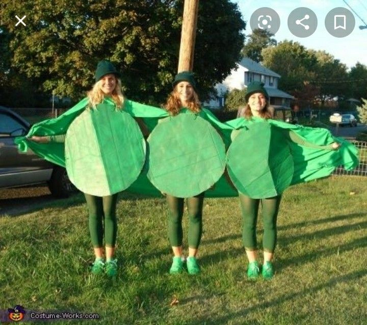 3 peas in a pod Halloween costume