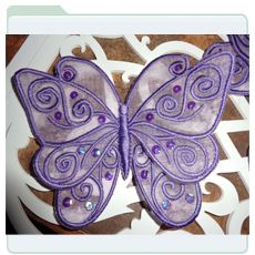 Organza Lace Butterfly 3
