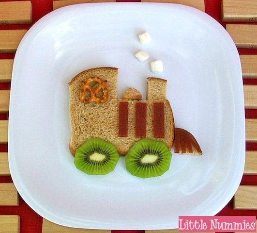 Train Sandwich #kids #eat #kidseating #nice #tasty #food #kidsfood #desser