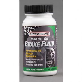 Finish Line Mineral oil brake fluid 4 oz / 120 ml High performance mineral oil brake fluid designed specifically for mountain bike disc brakes The formula created provides maximum fluid life to ensure the best braking performance is maintained for as http://www.MightGet.com/february-2017-1/finish-line-mineral-oil-brake-fluid-4-oz--120-ml.asp