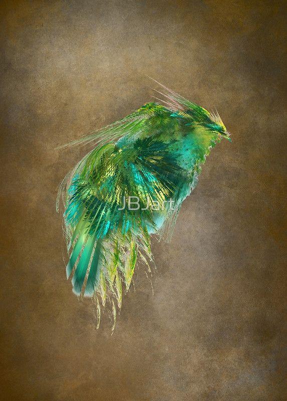 Green Bird - Fractal Art