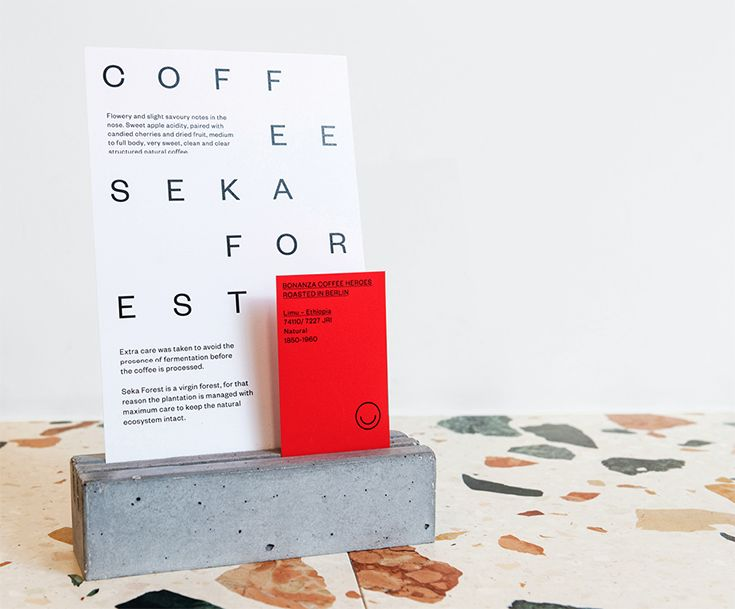 TOKI café Amsterdam. Menu design by HarrimanSteel.