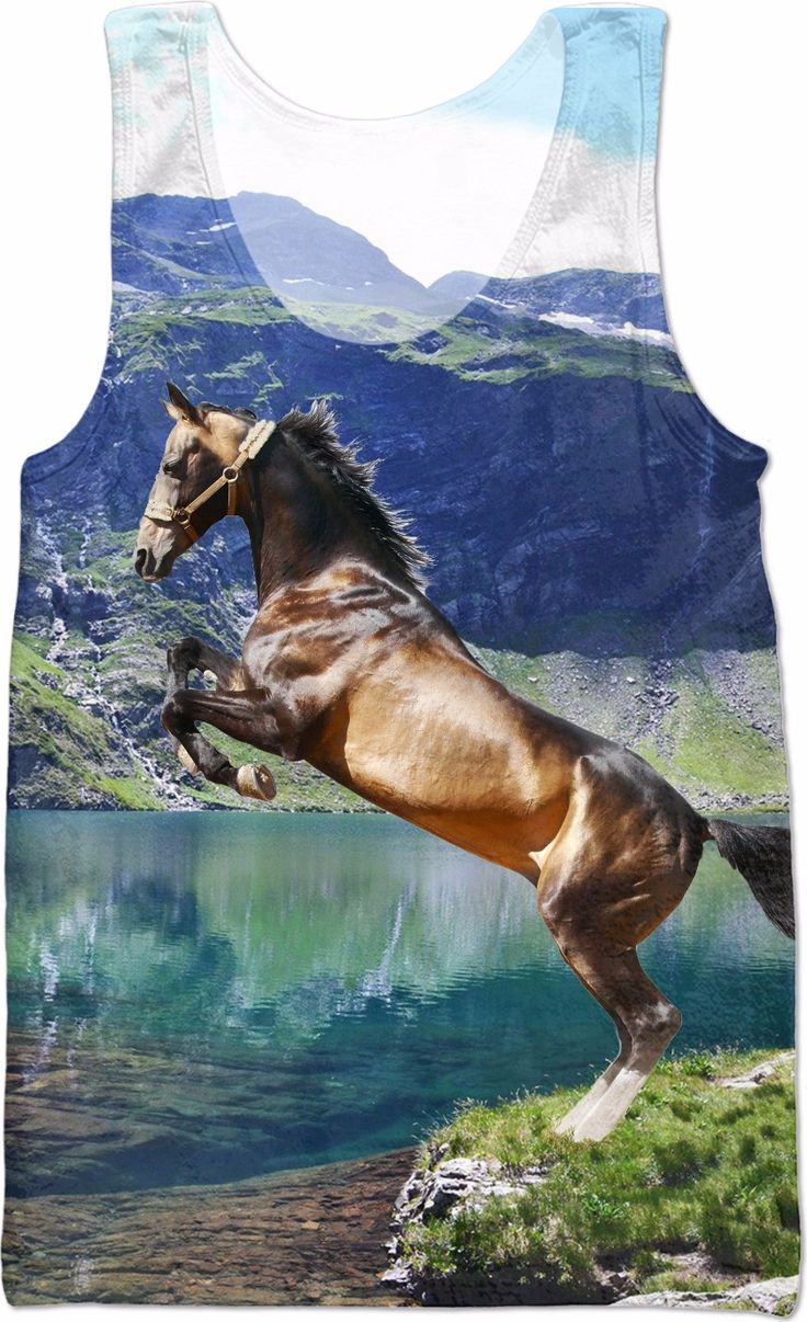 Horse and Lake Tank Top