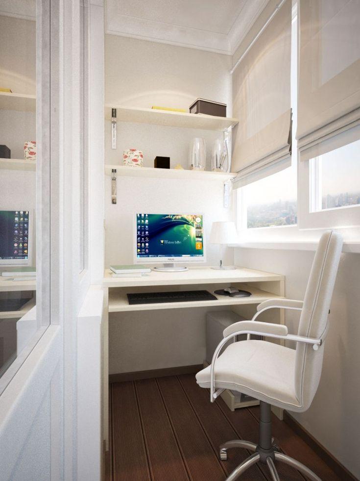 Рабочий кабинет на балконе фото
