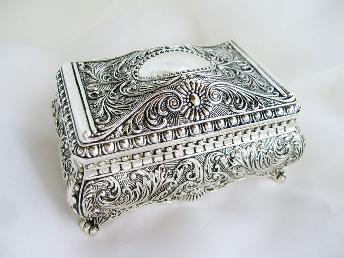 118 best Antique Jewelry boxes and or trinket boxes images on