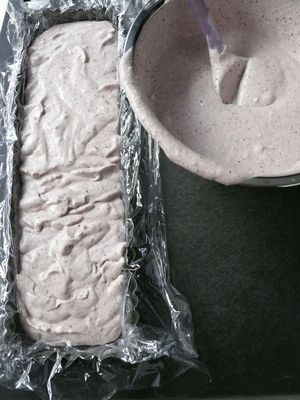 blue-grey semifreddo