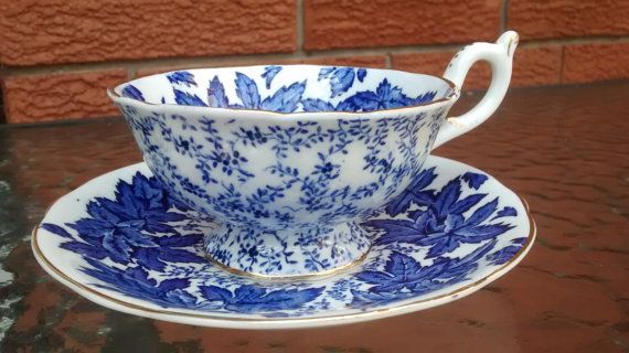 Vintage Coalport Footed Tea Cup and Saucer Set by TheGlassMunkey