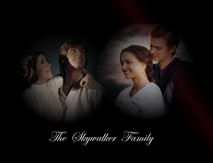 The Skywalker Family:Leia,Luka,Padme and Anakin-Star Wars