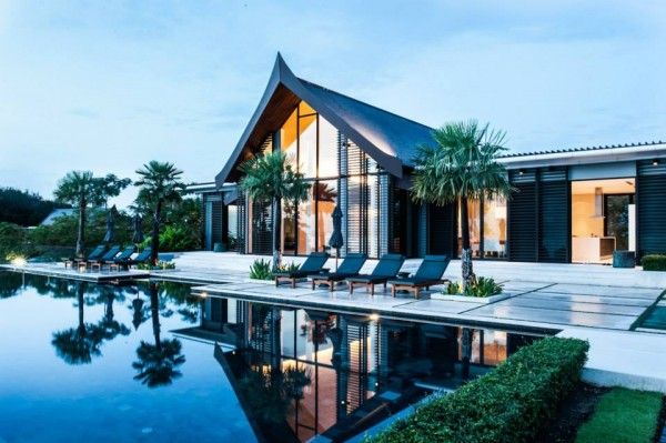 Thai villa located along the beachfront of the Yamu Peninsula, overlooking Phang Nga Bay, every detail of Villa Sawarin was chosen for both luxury and retreat #palmtree #architecture #home // Ethnic Chic