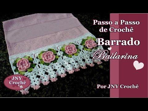 Passo a Passo Barrado Bailarina por JNY Crochê. Link download: http://www.getlinkyoutube.com/watch?v=PS9RnjHmtGk