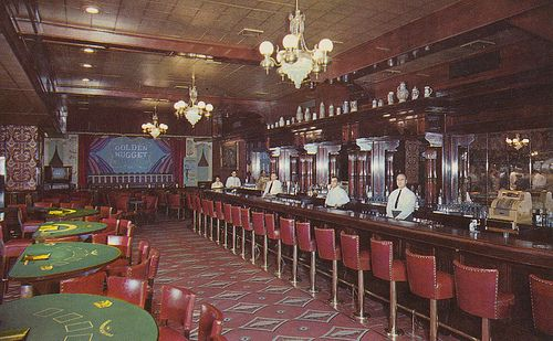 Vintage postcard, Golden Nugget Gambling Hall, Saloon and Restaurant - Las Vegas, Nevada