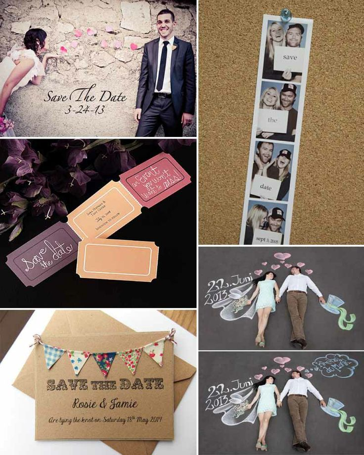Creative ideas for your Save the Dates