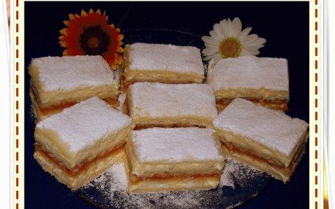 Mimóza szelet recept fotóval