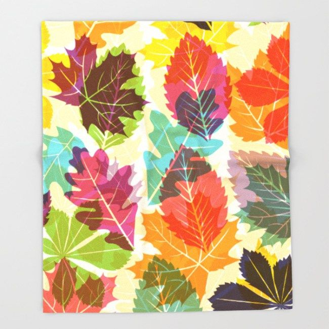 Autumn leaves throw blanket by Fimbis #home #homedecor