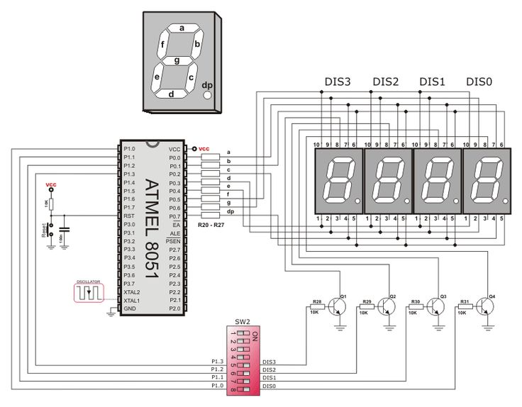 Lcd display pin diagram