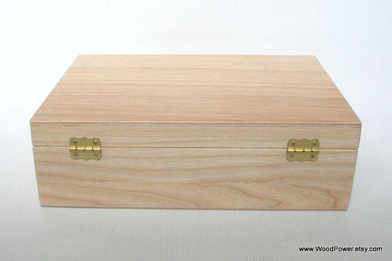 Madera regalo y recuerdo con candado / caja de madera de