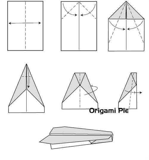 how to draw a paper airplane step by step