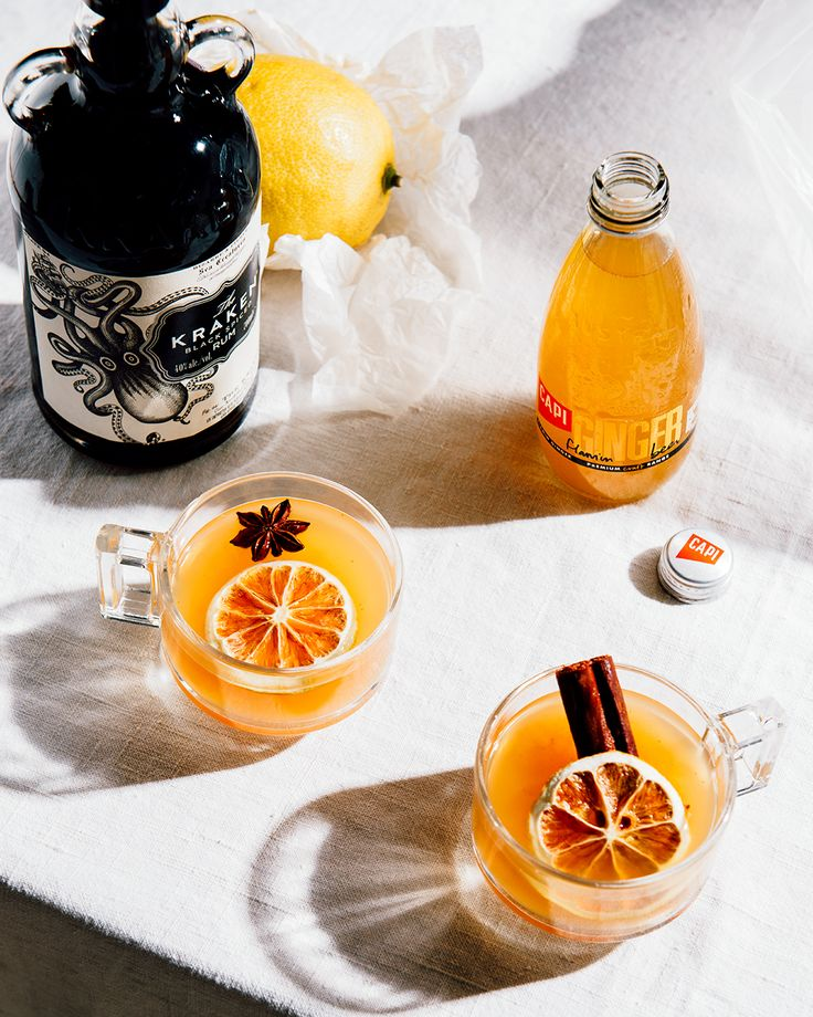 Take a seat in your favourite arm chair, kick up your boots, and warm your weary bones by the fire. Our bold and buttery mulled ginger beer, featuring earthy spices, lively citrus and smooth Kraken Rum, is the perfect remedy for curing those winter blues.