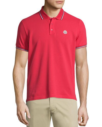 8609006ebccd Tape-Tipped Short-Sleeve Pique Polo Shirt