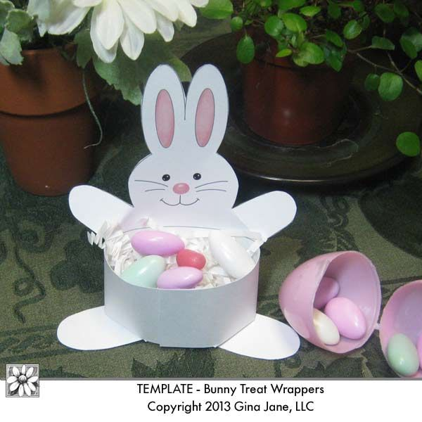 117 best easter diy crafts printables images on pinterest kids easter bunny printable treat holder diy handmade or homemade crafts for kids easter parties teacher gifts easter table top place marker printables by negle Gallery
