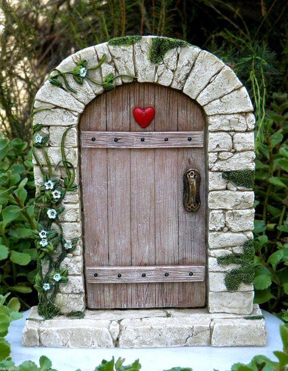 Miniaturas casa de muñecas hadas jardín Gnome ~ encantador guijarro hadas puerta ~ nuevo