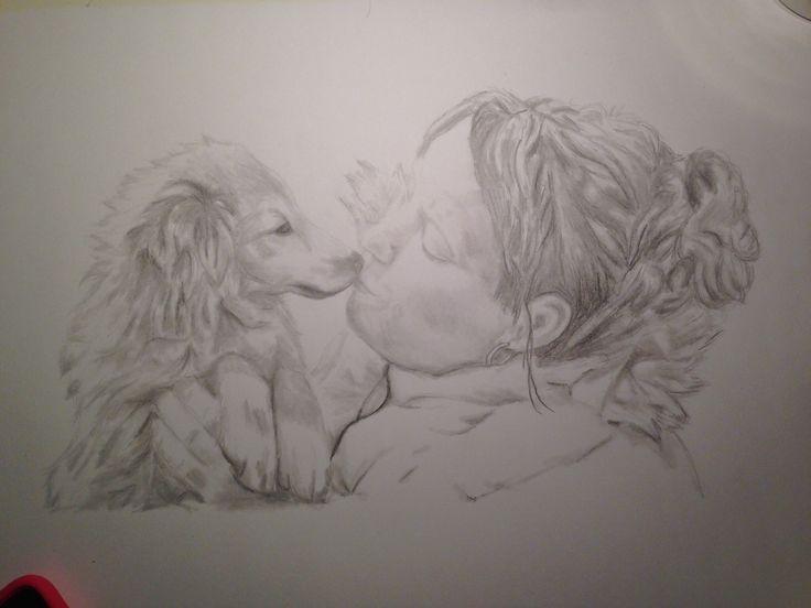 Puppy love, pencil #tellendesign #art