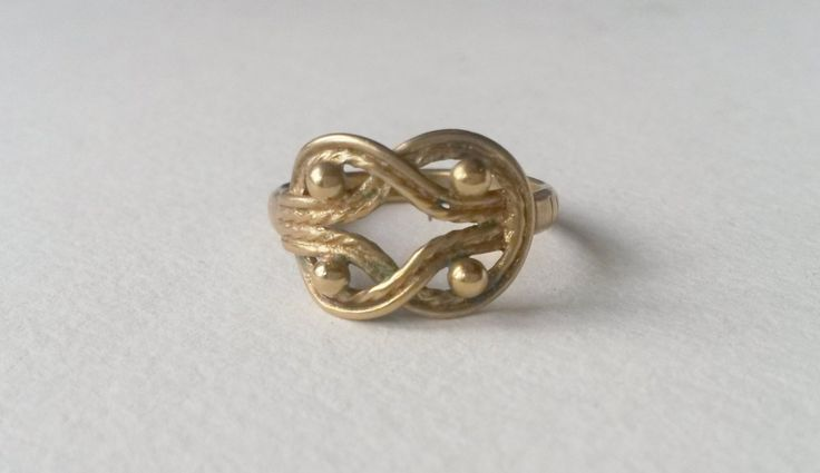 """Vintage Kalevala Koru """"Teljänneito"""" Bronze Ring, Finland (F317) by LifeUpNorth on Etsy"""
