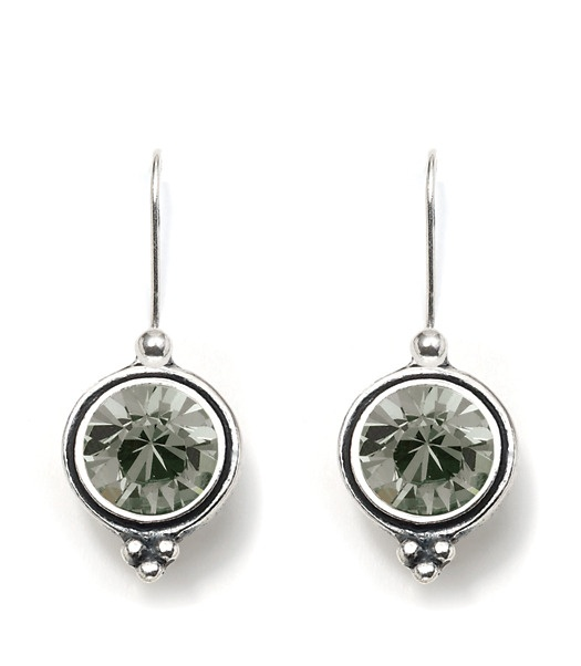 black diamond swarovski crystal earrings - Miglio original