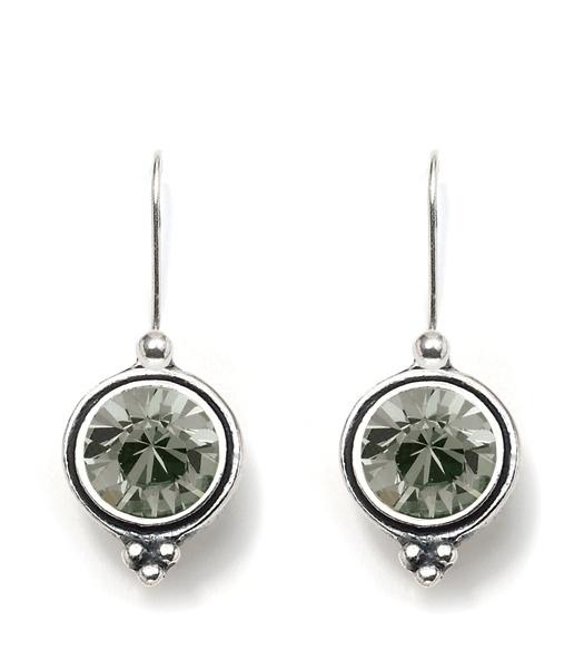 black diamond swarovski crystal earrings - Miglio original