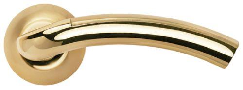 Дверные ручки Morelli MH-02 SG/GP Цвет Матовое золото/золото