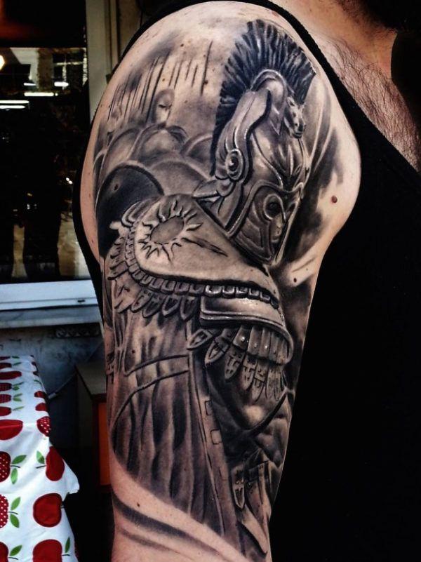 Knight 3D Tattoo in armor  - http://tattootodesign.com/knight-3d-tattoo-in-armor/     #Tattoo, #Tattooed, #Tattoos
