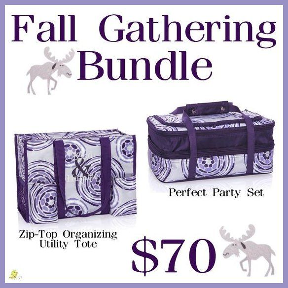 Thirty One Fall Gathering Bundle- just $70 for the month of September and includes a Zip-Top Organizing Utility Tote and a Perfect Party Set!   Shop with me: trendybags.net Instagram: instagram.com/trendybagswithdj Pinterest: pinterest.com/trendybagswithdj Twitter: twitter.com/TrendyBagsDJ