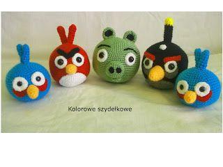 Kolorowe szydełkowe: Angry Birds ciąg dalszy