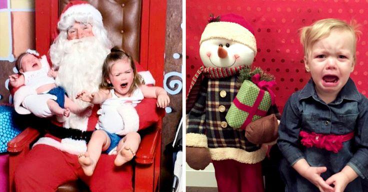 20 imágenes de bebés y niños pequeños que no se sienten cómodos con nada que tenga que ver con la navidad, y arruinaron la sesión de fotos de la temporada.