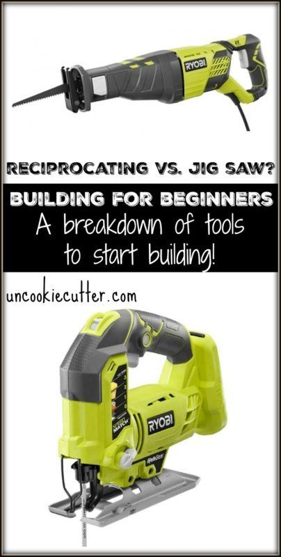Reciprocating or Jig Saw? A basic tool breakdown for beginning DIYers - UncookieCutter.com