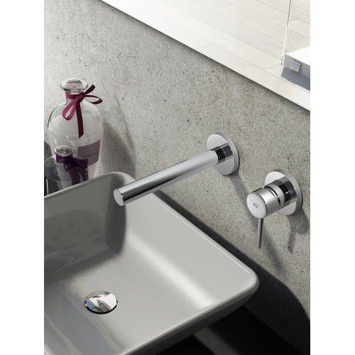 Hotbath Buddy 005 inbouw wastafelkraan rechte uitloop