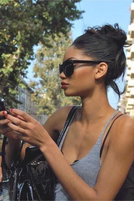 Stylish / Fashion / Sunglasses / Red Lip