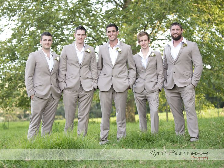 Beige Slim fit suit with matching waistcoats