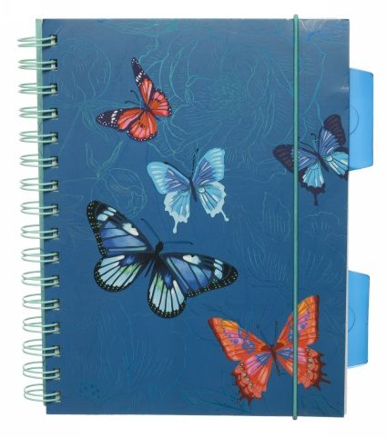 Buy WHSmith Flutterby Blue A5 Project Notebook From WHSmith today, saving 29%