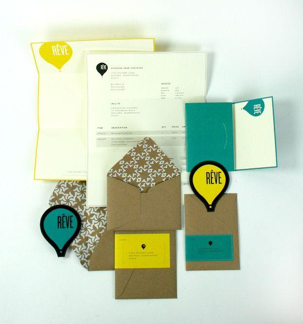 reve hot air balloon comapany: Hot Air Balloon, Nice Branding, Envelopes, Branding Packaging, Kraft Paper, Graphics Design, Identity Design, Colors Schemes, Stationery Design