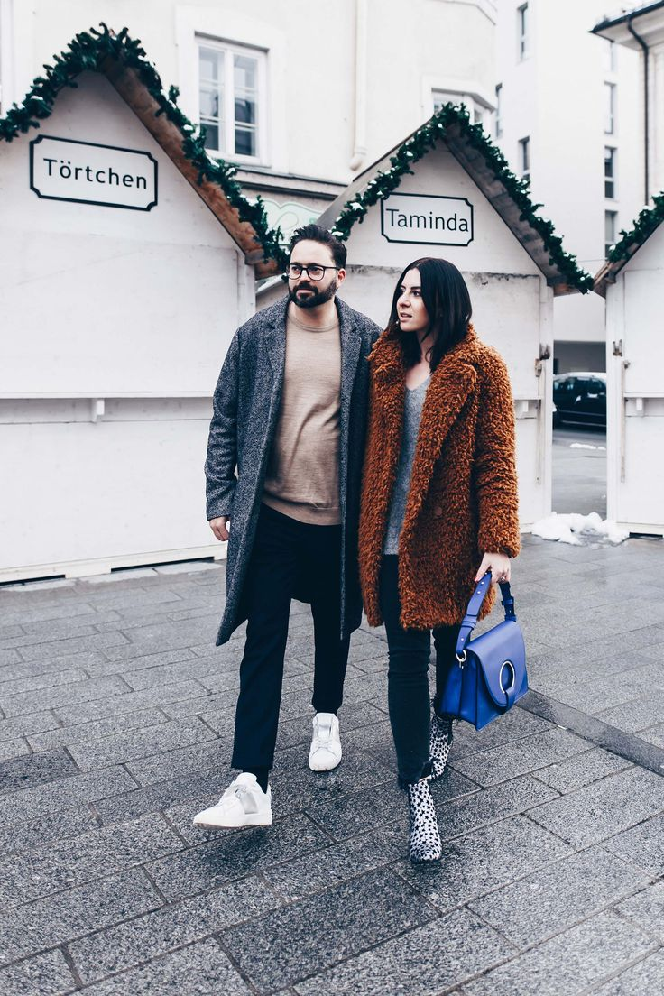 Pärchen Outfit, Paar Look, Pärchen Shooting, Alltagsoutfits, lässig sportlich elegante Mode, Streetstyle, Teddy Coat, J.W. Anderson Lookalike Bag, Saint Laurent Boots Stars, Valentino Sneakers, Fashion Mode Style Blog, www.whoismocca.com